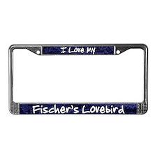 Funky Love Fischer's Lovebird License Plate Frame