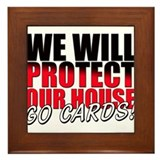 Protect Our House Framed Tile