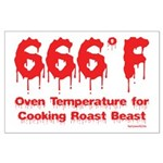 Oven Temperature Large Poster
