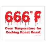 Oven Temperature Small Poster