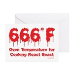 Oven Temperature Greeting Cards (Pk of 20)