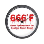Oven Temperature Wall Clock