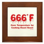 Oven Temperature Framed Tile