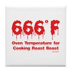 Oven Temperature Tile Coaster