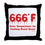 Oven Temperature Throw Pillow