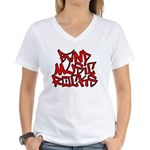 Band Music Rocks Women's V-Neck T-Shirt