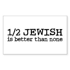 Half Jewish Rectangle Decal