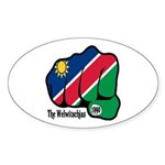 Namibia Fist 1990 Oval Sticker
