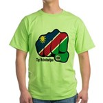Namibia Fist 1990 Green T-Shirt