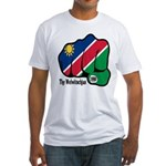 Namibia Fist 1990 Fitted T-Shirt