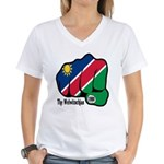 Namibia Fist 1990 Women's V-Neck T-Shirt