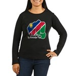 Namibia Fist 1990 Women's Long Sleeve Dark T-Shirt