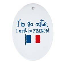 So Cute French Oval Ornament