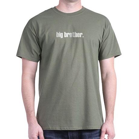 ADULT SIZES - big brother plain Dark T-Shirt