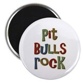 Pit bull 2.25&quot; Round Magnet (100 pack)