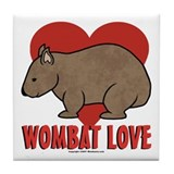 Wombat Love Coaster Tile