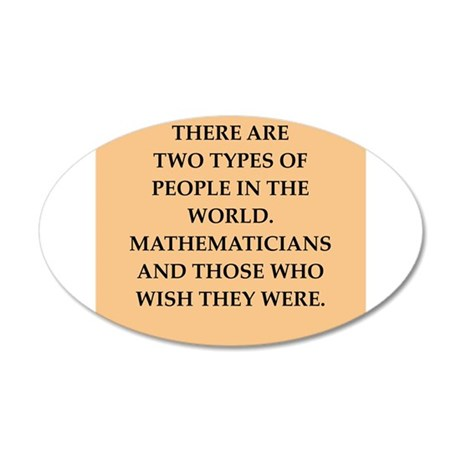 math 20x12 Oval Wall Decal