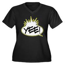 Yee! Women's Plus Size V-Neck Dark T-Shirt