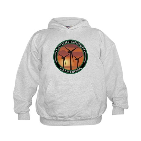 Living Green California Wind Power Kids Hoodie