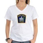 Coral Gables Police Women's V-Neck T-Shirt