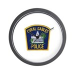 Coral Gables Police Wall Clock