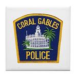 Coral Gables Police Tile Coaster