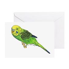 Green Keet Greeting Card