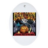 HALLOWEEN 1 Oval Ornament