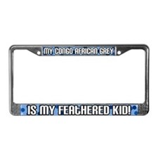Congo Af Grey Feathered Kid License Plate Frame