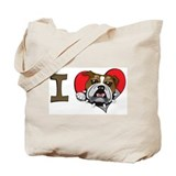 I heart bulldogs Tote Bag