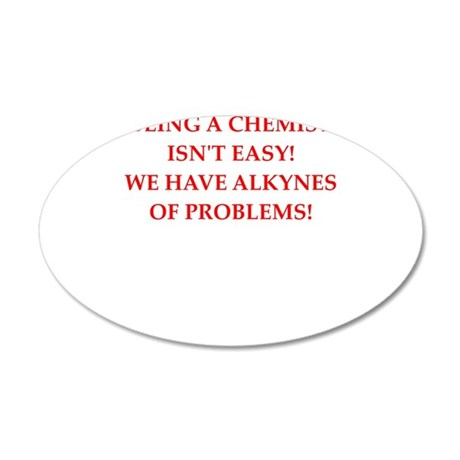 chemist 20x12 Oval Wall Decal