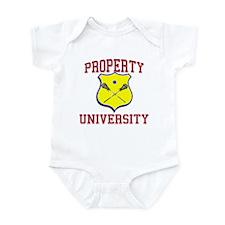 Property of LACROSSE University Infant Bodysuit
