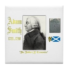 Adam Smith. Tile Coaster