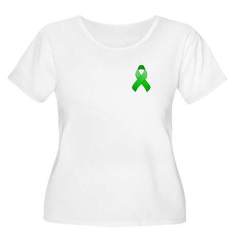Green Awareness Ribbon Women's Plus Size Scoop Nec