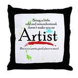Odd and Misunderstood Throw Pillow