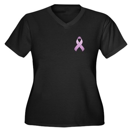 Lavender Awareness Ribbon Women's Plus Size V-Neck