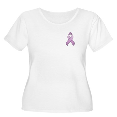 Lavender Awareness Ribbon Women's Plus Size Scoop
