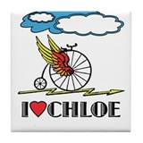 I LOVE CHLOE Tile Coaster