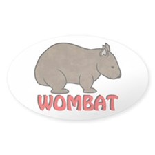 Wombat Logo Oval Decal