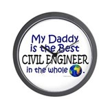 Best Civil Engineer In The World (Daddy) Wall Cloc