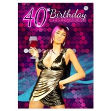 Personalizeable, 40th Birthday 5x7 Invitations