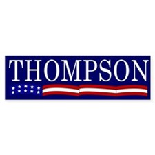 Thompson for President Flag Bumper Bumper Sticker