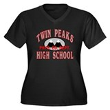 Twin Peaks PE Women's Plus Size V-Neck Dark T-Shir