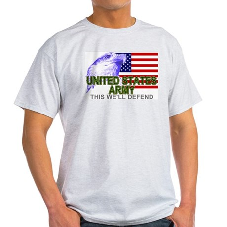 United States Army T-shirts & Ash Grey T-Shirt