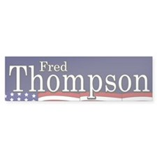 Fred Thompson Bumper Bumper Sticker