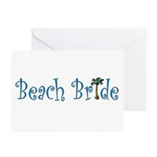 Beach Bride Palm Greeting Cards (Pk of 10)