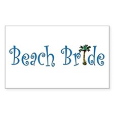 Beach Bride Palm Rectangle Decal
