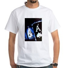 Blue Flame Pocket Aces Poker Shirt