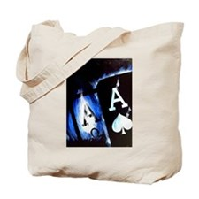 Blue Flame Pocket Aces Poker Tote Bag