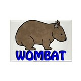 Wombat Logo III Rectangle Magnet (100 pack)